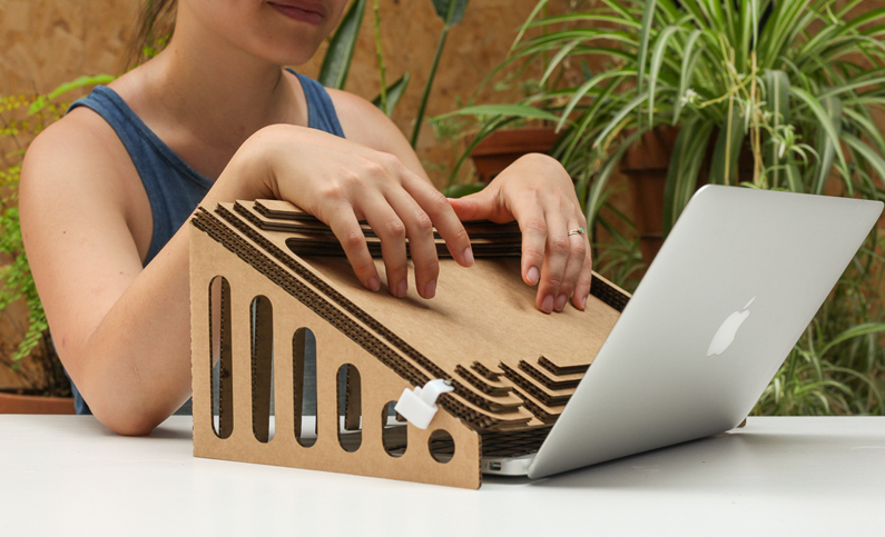 Image of a prototype laptop contraption from CTP